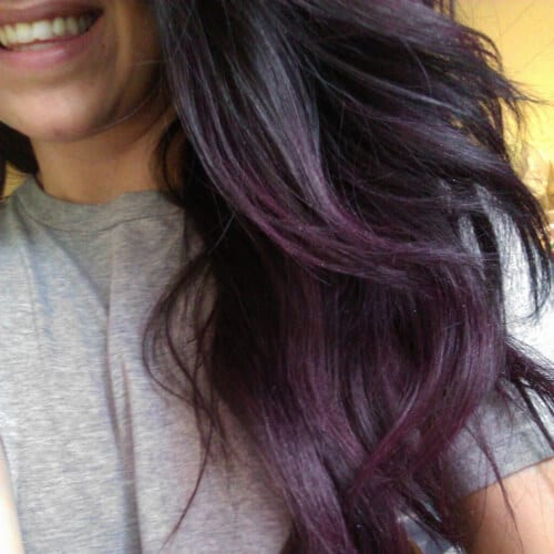 black purple grey low highlights and lowlights