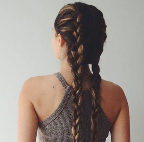 casual braid hairstyles for long hair