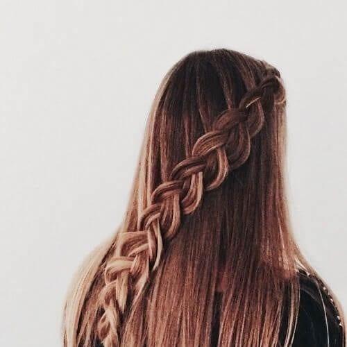 diagonal fishtail braid hairstyles for long hair