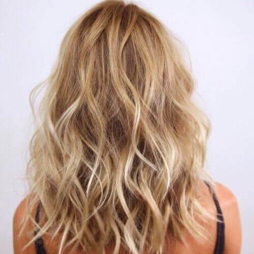 iceberg on honey blonde high highlights and lowlights