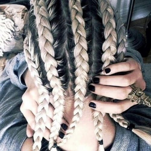 large cornrows bonde hairstyles