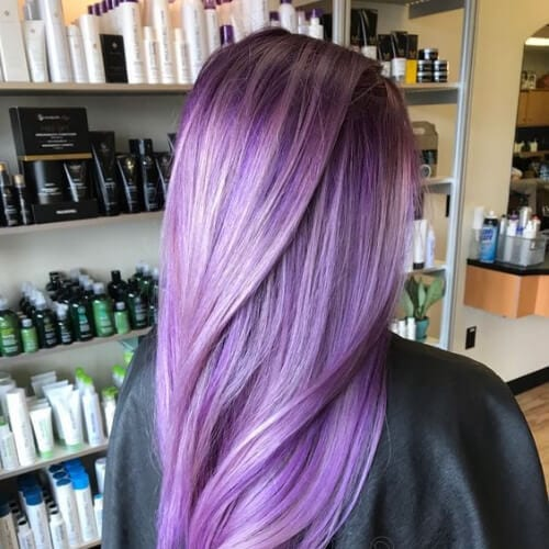 lavender low highlights and lowlights