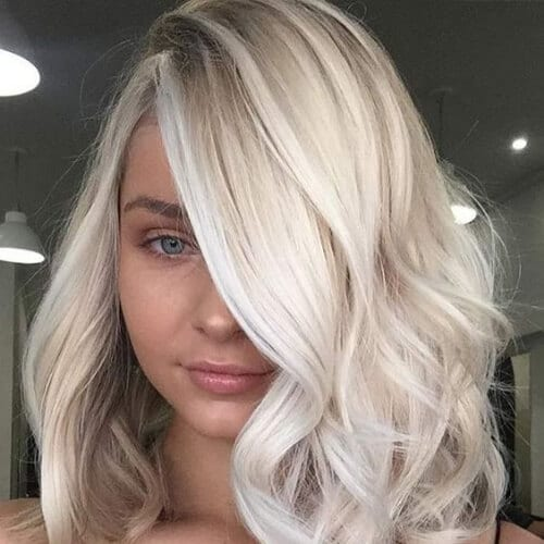 lob blonde hairstyles