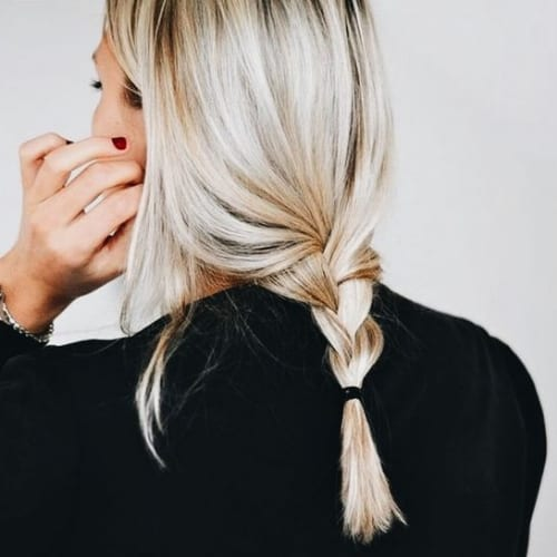 loose braid blonde hairstyles