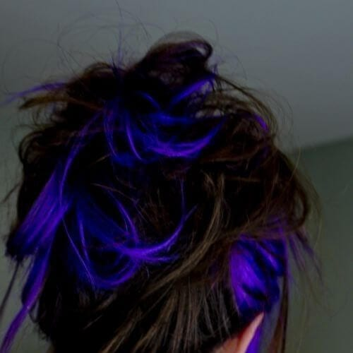metallic blue high highlights and lowlights