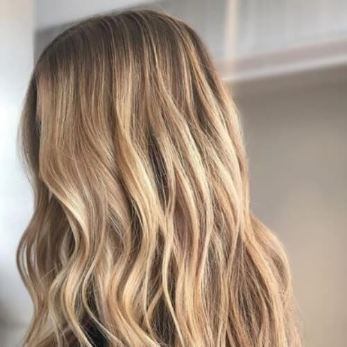 nutmeg blonde low highlights and lowlights