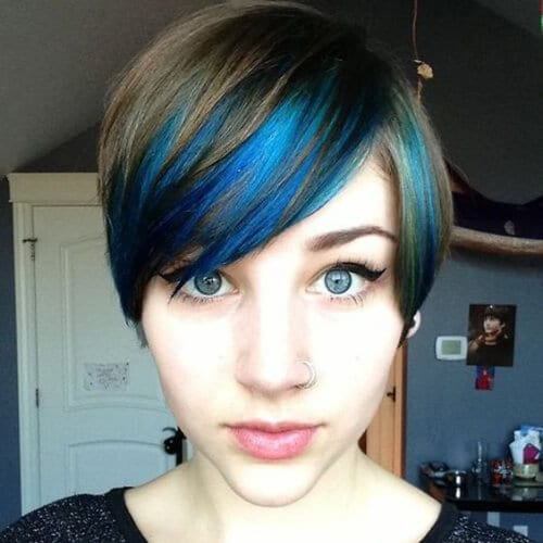 pixie blue high highlights and lowlights