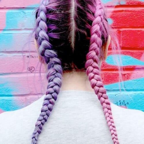 two tone boxer braids braid hairstyles for long hair