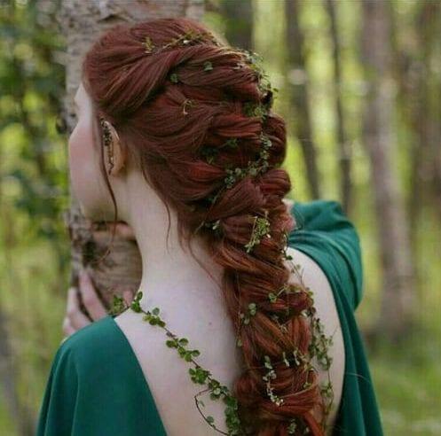 wood fairy braid hairstyles for long hair