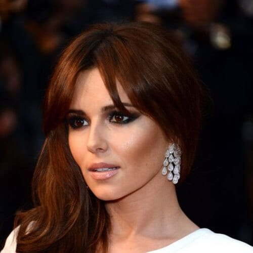 cheryl cole chestnut hair color