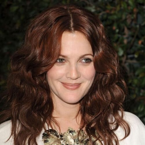 drew barrymore chestnut hair color