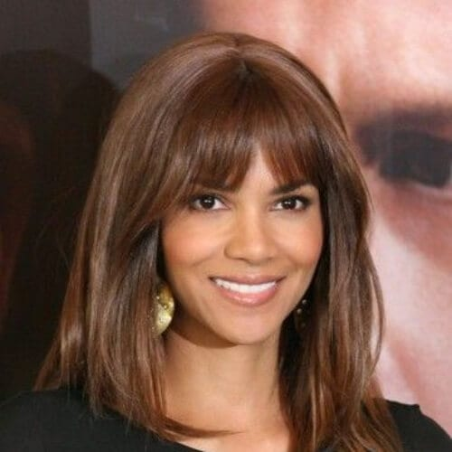 halle berry chestnut hair color