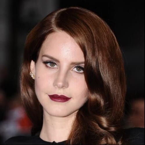 lana del rey chestnut hair color