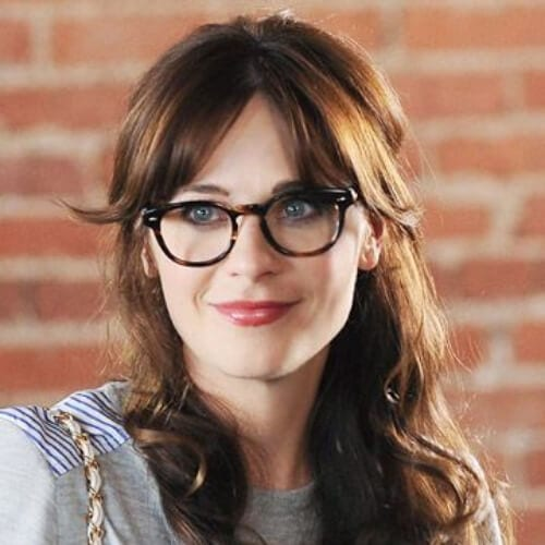 zooey deschanel chestnut hair color