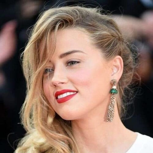 amber heard side hairstyles for prom