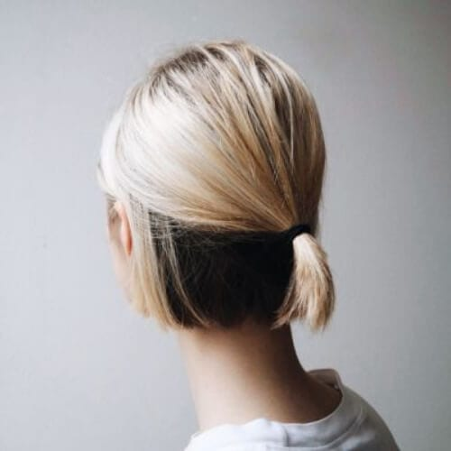 duo color short haircuts for straight hair