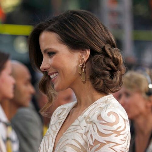 kate beckinsale side hairstyles for prom