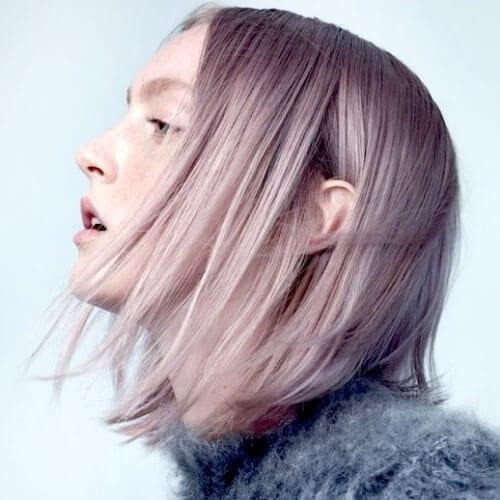 lavender short haircuts for straight hair