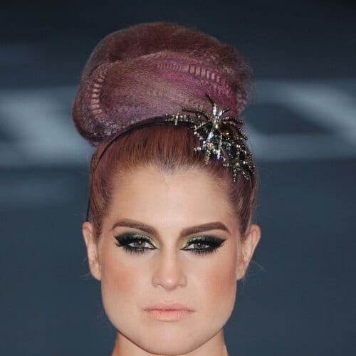 Kelly Osbourne crimped hairstyles