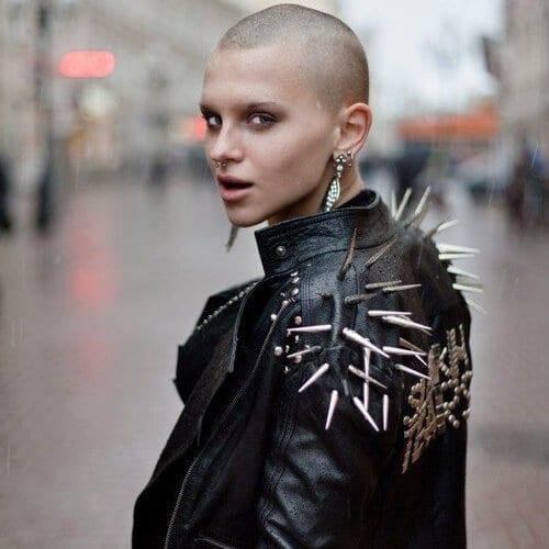 buzz cut short punk hairstyles