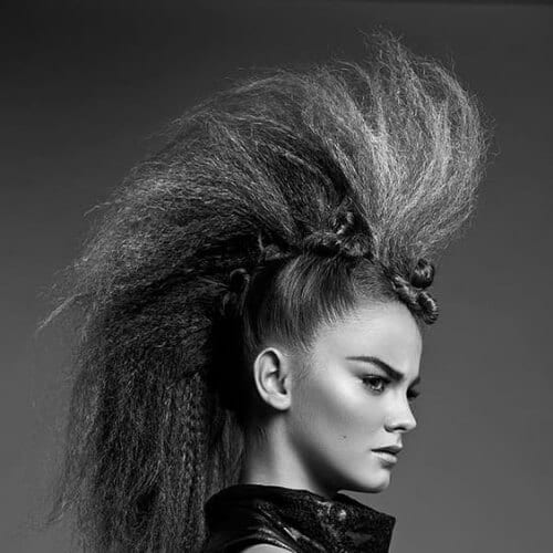 fauxhawk crimped hairstyles