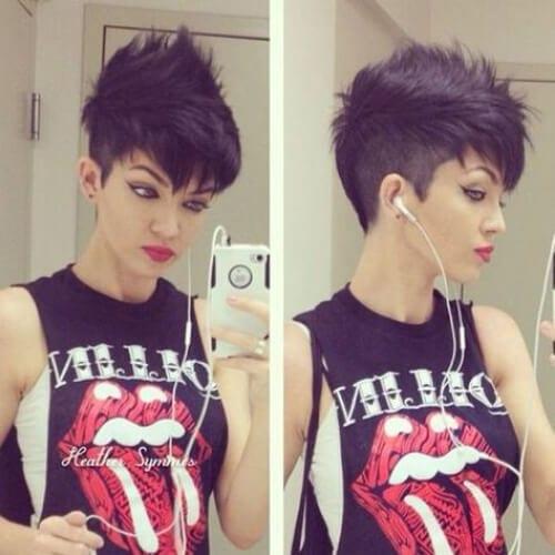 sweet short punk hairstyles
