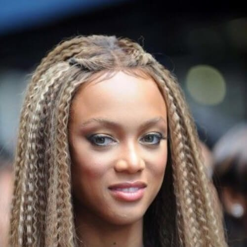 tyra banks crimped hairstyles
