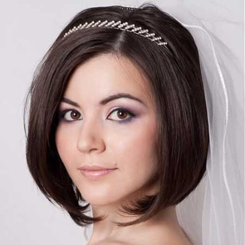 bob wedding hairstyles for short hair
