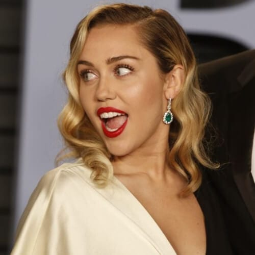elegant miley cyrus haircut