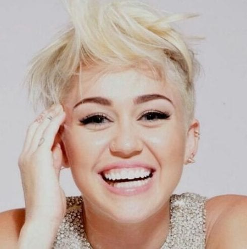 messy platinum long pixie cut miley cyrus haircut