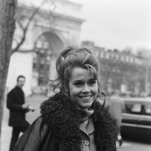 Jane Fonda hairstyles in Paris, 1970