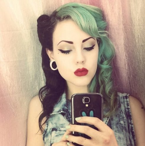 black and green two tone hairstyles