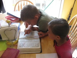 A First Day of Homeschool