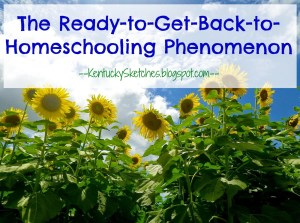 The Ready-to-Get-Back-to-Homeschooling Phenomenon