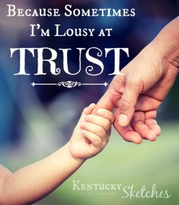 Because Sometimes I'm Lousy at Trust