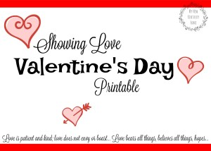 Showing Love Valentine's Day Printable