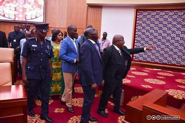 PICTURES:VEEP's Visit to Parliament on Wednesday