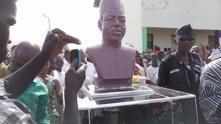 Statue unveiled in honour of DR. Hilla Limann at Gwollu
