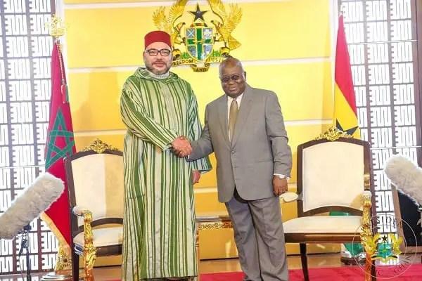 King of Morocco, Mohammed VI Visits Nana Addo