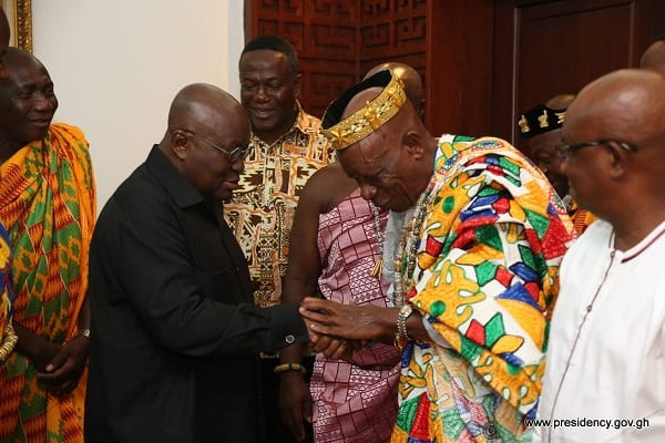 Togbe Agorkoli IV Visits Nana Addo
