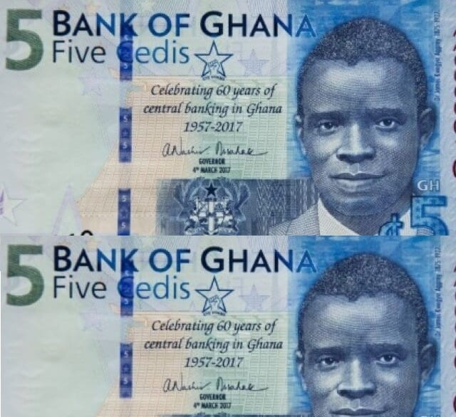 New GH¢5 Note was Printed as Souvenirs for Ghana@60-BoG