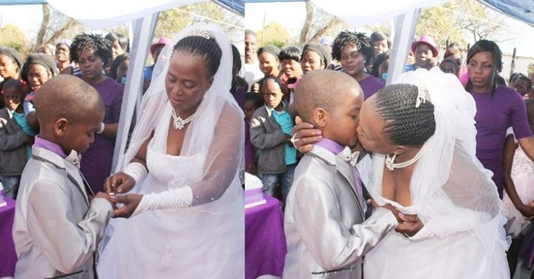 PHOTOS:9-Year-Old Boy Marries A 63-Year-Old Woman