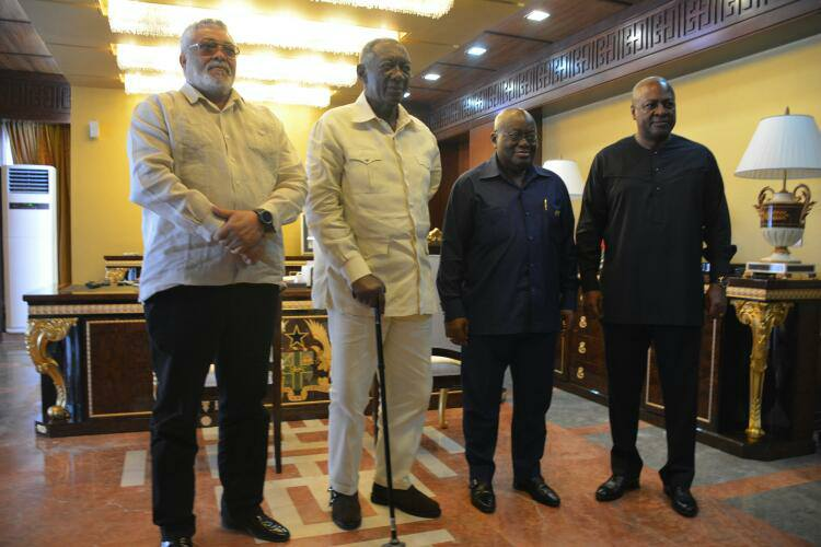 VIDEO:When President Akufo-Addo Met the 3 Johns