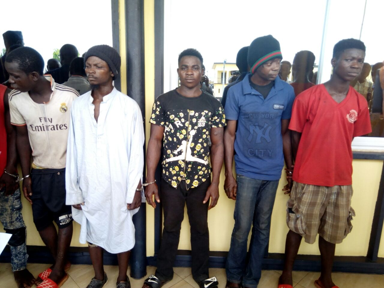 Police Conduct Identification Parade of 50 Suspected Crimina