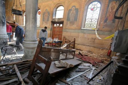 13 killed, 42 injured in explosion inside church in Egypt