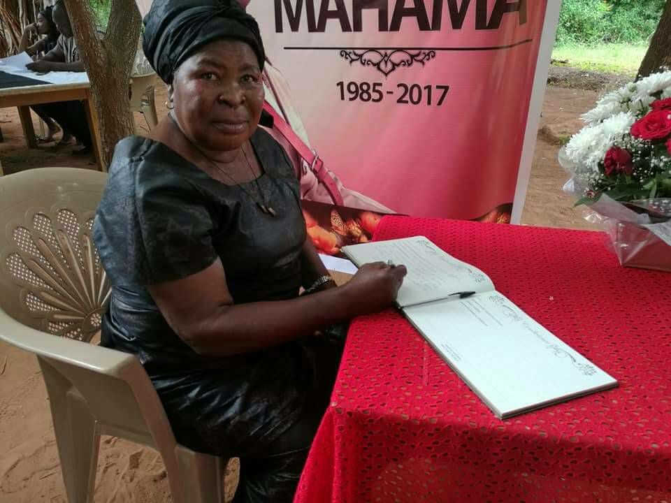 What Akua Donkor wrote in Mahama's book of condolence