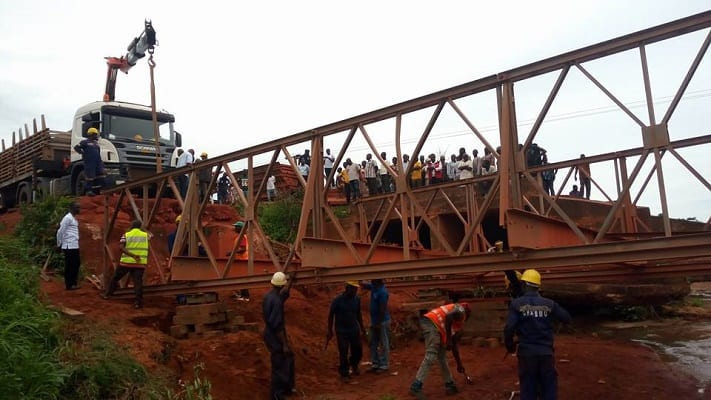 Roads Minister, Deputy others assess collapsed bridges up north