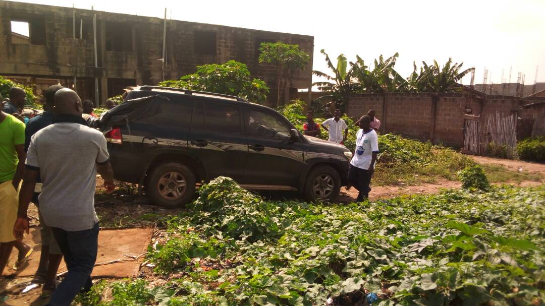 PICTURES: Stolen state vehicle retrieved from Ashaiman