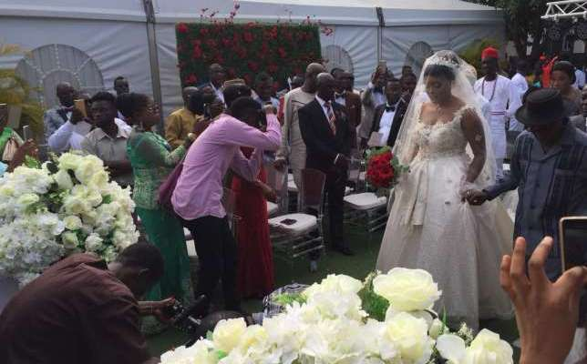 Live photos from Kwame A Plus' white wedding