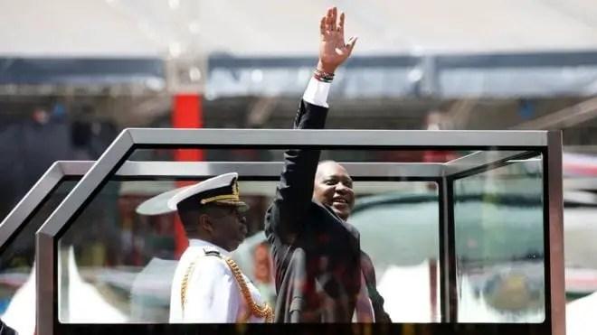 Kenyatta sworn in for new term